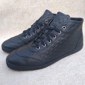 Gucci GG Guccissima Leather Mid Sneakers